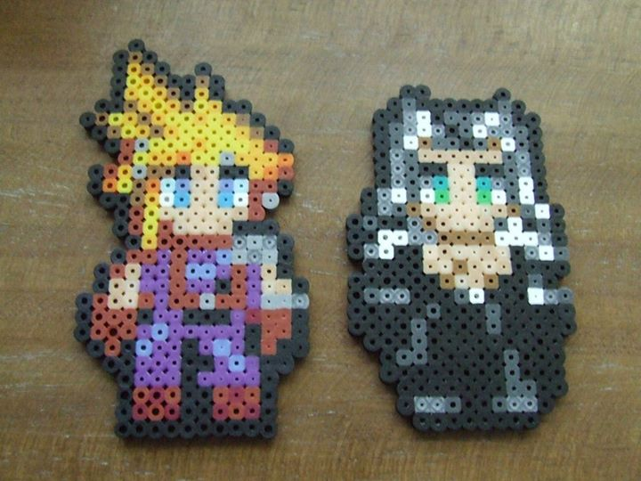 Cloud and Sephiroth Sprites - Final Fantasy